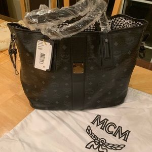 MCM reversible leather bag